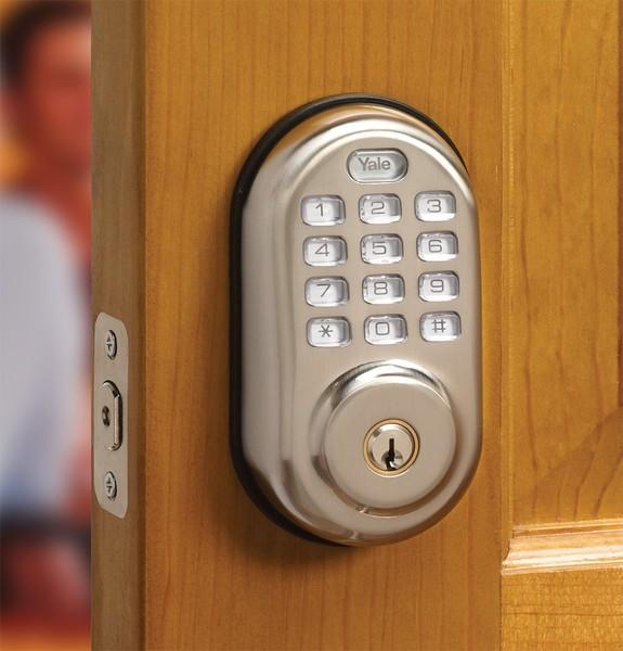 Yale Yrd210 Z Wave Push Button Deadbolt Lock Alarm Grid