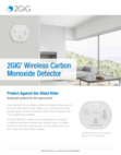 2GIG CO8 and CO8e Carbon Monoxide Sensor - Data Sheet