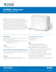 2GIG RPTR1-345 Wireless Repeater - Dealer Data Sheet