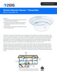 2GIG SDS1-345 Smoke Detector Sensor - Data Sheet