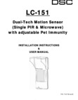 DSC LC-151 - Installation Manual