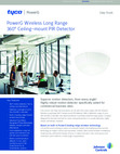 DSC PG9872 PowerG Wireless Long-Range Ceiling-Mount 360° Motion Detector - Data Sheet
