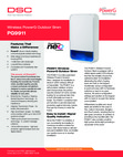 DSC PG9911 Wireless PowerG Outdoor Siren - Data Sheet