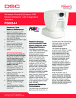 DSC PG9944 Outdoor PIR w/Built-in Camera - Data Sheet