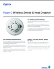 DSC PowerG Smoke-Heat Detectors - Data Sheet