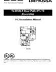 DSC TL8055LT V1.3 Installation Manual - Dated 2019