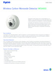 DSC WS4933 - Wireless Carbon Monoxide Detector - Data Sheet