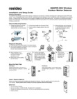 Honeywell 5800PIR-OD2 Wireless Outdoor Motion Detector - Installation and Setup Guide Dated 3/19