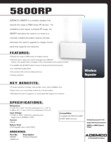 Honeywell 5800RP Data Sheet
