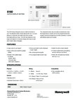 Honeywell 6160 (K4274B1-H M7274) Data Sheet