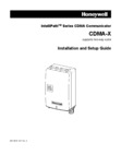 Honeywell CDMA X Installation Manual
