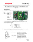 Honeywell DT900 Series PIR and Microwave Adjustments - Step-by-Step