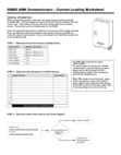 Honeywell GSMX Power Output Worksheet