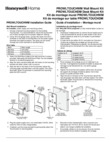 Honeywell Home PROWLTOUCHDM and PROWLTOUCHWM Installation Instructions - Dated 10/19 Rev. A