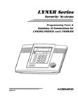 Honeywell LynxR, LynxR24, and LynxR-EN - Programming Form Rev 10