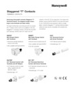 Honeywell Staggered T-Contacts Datasheet