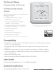 Honeywell T6 Pro Z-Wave Thermostat - Installation Manual