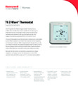 Honeywell T6 Z-Wave Thermostat - Data Sheet