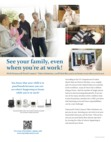Honeywell Total Connect Video Working Mom Brochure