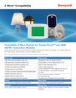 Honeywell Tuxedo Touch and VAM Z-Wave Compatibility List