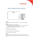 Honeywell VAM Troubleshooting Check List