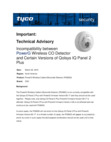 Incompatibility between PowerG PG9933 CO Detector and Some Qolsys IQ Panel 2 Plus Panels - Technical Advisory