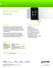 Interlogix 600-1064-95R - Key Fob Data Sheet