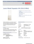 Interlogix 80-922-1 319.5 Repeater - Data Sheet