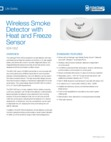 Interlogix SDX-135Z Wireless Smoke/Freeze Sensor - Data Sheet