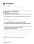 Interlogix Simon XT - User and Installation Errata