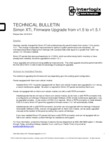 Interlogix Simon XTi - Technical Bulletin - Firmware Upgrade from v1.5 to v1.5.1