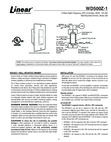 Linear WD500Z-1 - Installation Manual