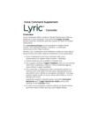 Lyric Controller - Voice Command Supplement