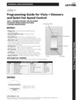 Programming Guide for Vizia Dimmers and Quiet Fan Speed Control