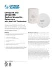 System Sensor CO1224T - 4-Wire CO Detector Data Sheet