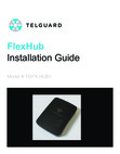 Telguard FlexHub Model # TGFX-HUB1 - Install Guide