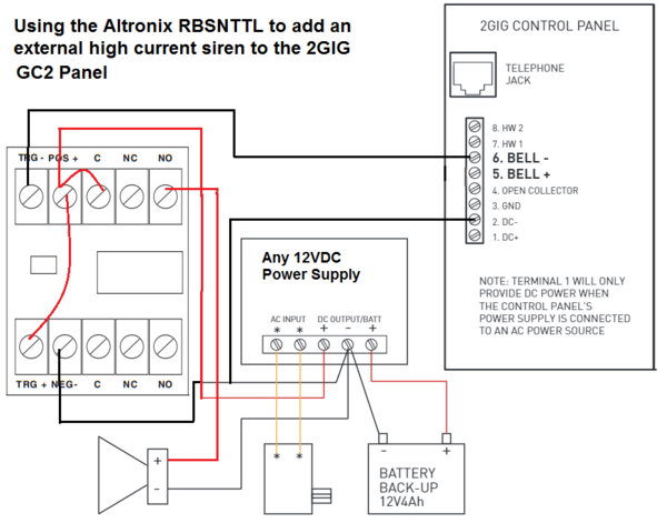gc siren rbsnttl?1497042548 how do i add a wired siren to go!control 2? alarm grid Basic Electrical Wiring Diagrams at readyjetset.co