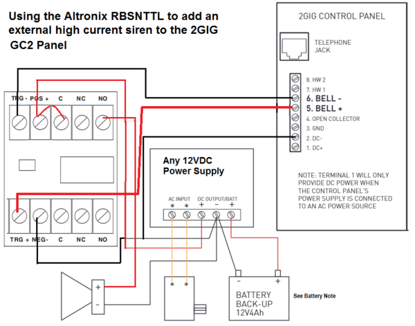 How do I add a wired siren to Go!Control 2? - Alarm GridAlarm Grid