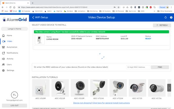 How Do I Set Up My 2GIG HD100 Camera with Alarm com? - Alarm Grid