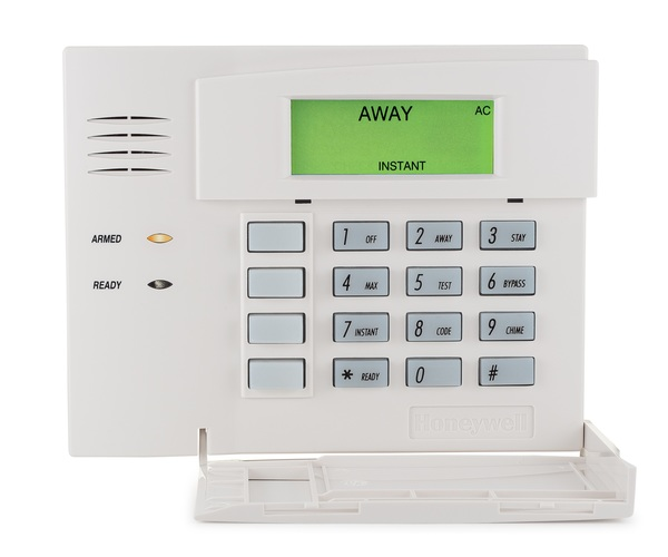 Honeywell 5828 wireless fixed english alarm keypad alarm grid.