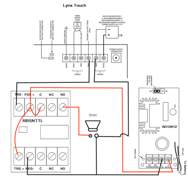 How Do I Add A Wired Siren To A Honeywell Lynx Touch Using