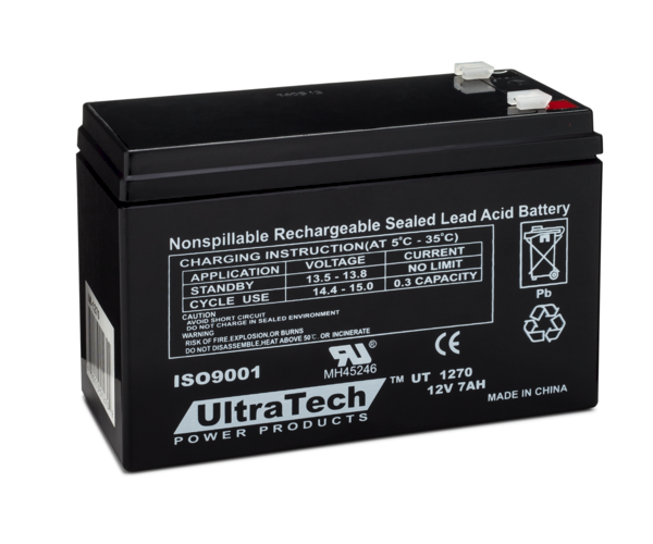 Ultratech 1270 Alarm Control Panel Battery Backup 12v