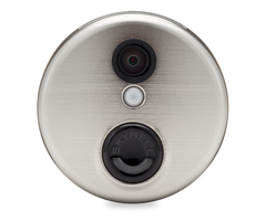 Alarm dot com adc vdb101 round hd video doorbell aluminum