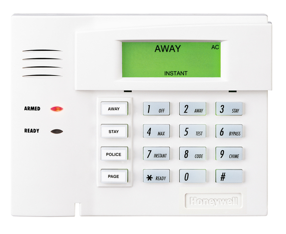 honeywell 6151 fixed english alarm keypad with integrated hardwired zone alarm grid. Black Bedroom Furniture Sets. Home Design Ideas