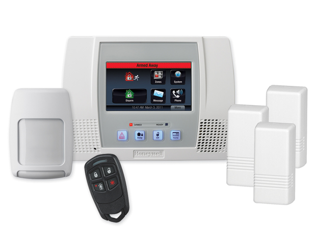 Honeywell l5000pk lynx touch wireless security system