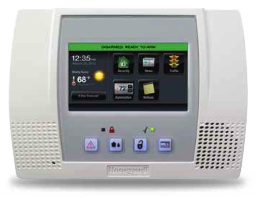 Honeywell l5100 sia lynx touch wireless alarm control panel