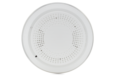 Honeywell sixsmoke front wireless smoke slash heat detector for
