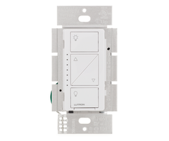 Lutron caseta 6wcl wh anterior in wall light dimmer