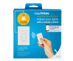 Lutron caseta p pkg1w wh unboxed in wall dimmer remote kit