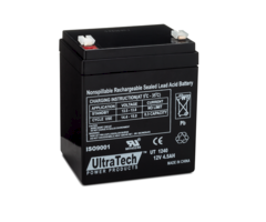 Ultratech 1240 alarm control panel battery backup 12v 4 dot 5ah